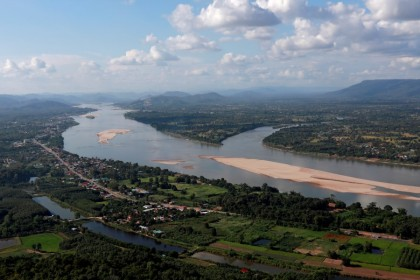 A view of the Mekong river bordering Thailand and Laos is seen from the Thai side in Nong Khai, Thailand, 29 October 2019. (Soe Zeya Tun/Reuters)