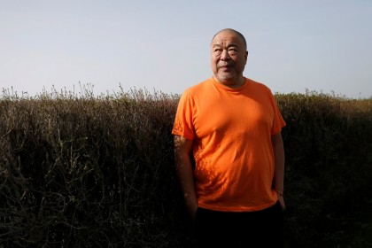 Ai Weiwei in Montemor-o-Novo, Portugal, 3 March 2021. (Pedro Nunes/Reuters)