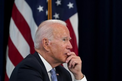 US President Joe Biden holds a meeting at the White House in Washington, U.S., 30 June 2021. (Kevin Lamarque/Reuters)
