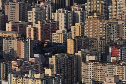 Residential buildings are seen in Beijing, China, on 17 September 2021. (Greg Baker/AFP)