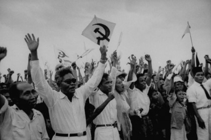 PKI supporters rallying during the 1955 general-election campaign. (Wikimedia)