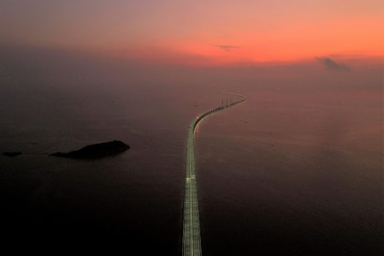 The Hong Kong–Zhuhai–Macau Bridge, a key infrastructure in the Greater Bay Area project. (Reuters)