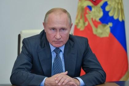 Russian President VladimirPutinin Moscow, 8 October 2020. (Alexei Druzhinin/Sputnik/AFP)