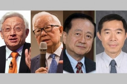 Left to right: Robert Tsao, Morris Chang, Chiang Shang-yi, and Liang Mong-song. (SPH/Bloomberg/Internet)